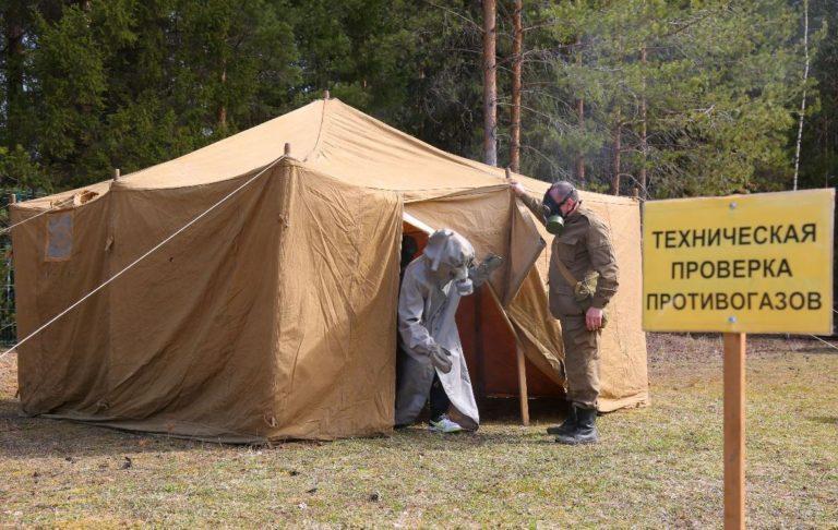 Аренда армейской палатки проверка противогазов