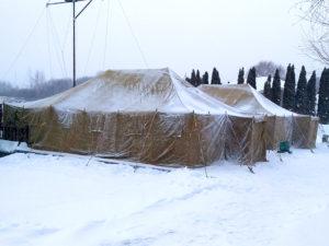 Аренда армейской палатки усб-56 на крещение