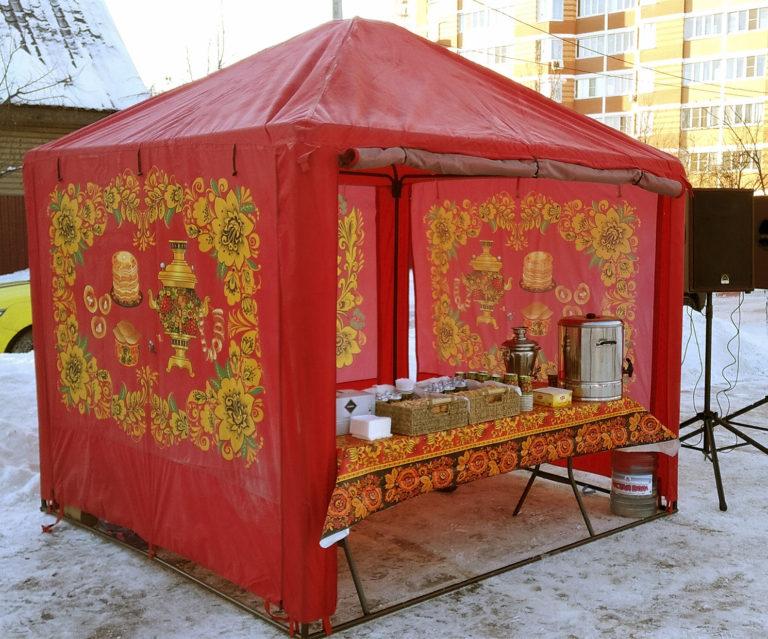 шатер русские узоры