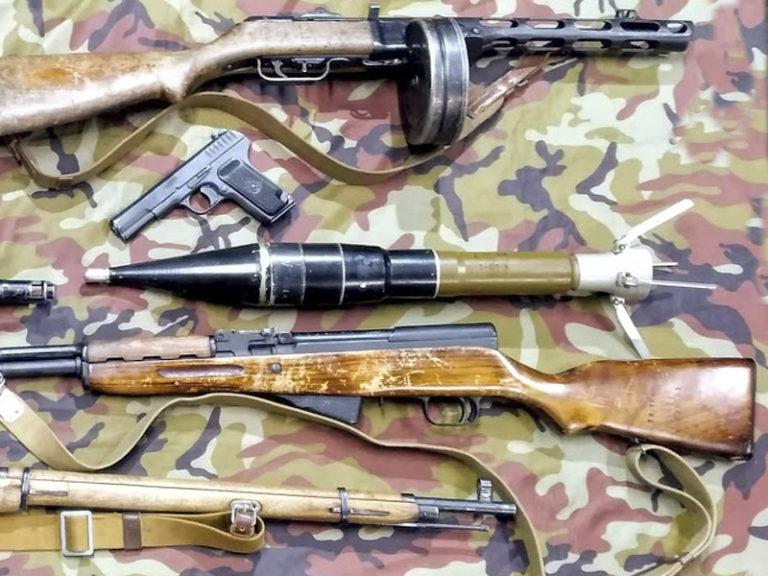 Выставка исторического оружия на праздник