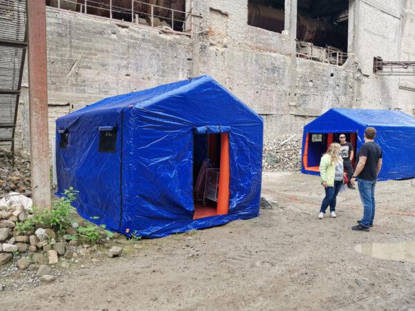 палатки МЧС на киносьемки