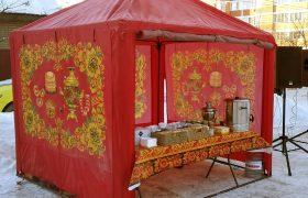 выездное чаепитие в русском народном стиле