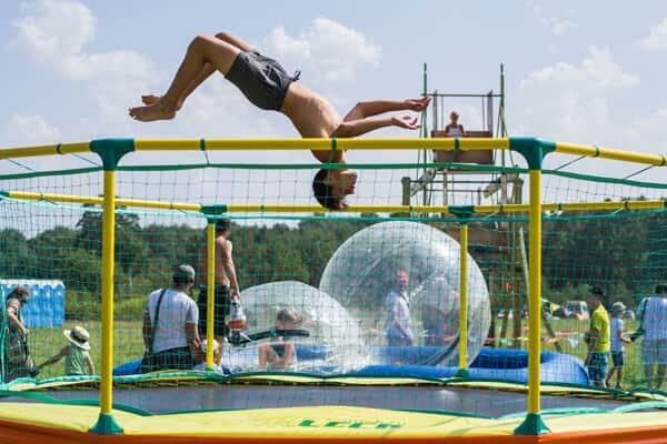 Гимнастический спортивный батут