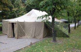 Армейская палатка в Москве